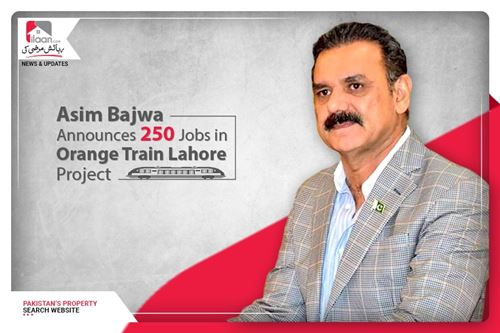 Asim Bajwa announces 250 jobs in Orange Train Lahore project
