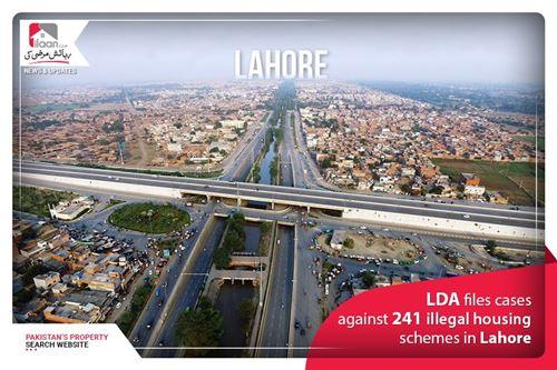 LDA files cases against 241 illegal housing schemes in Lahore
