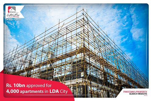 Rs. 10bn approved for 4,000 apartments in LDA City