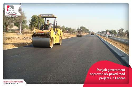 Punjab government approves six paved road projects in Lahore