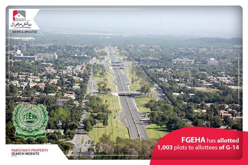 FGEHA has allotted 1,003 plots to allottees of G-14