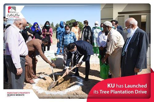 KU has Launched its Tree Plantation Drive