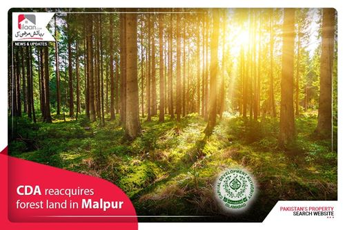 CDA reacquires forest land in Malpur