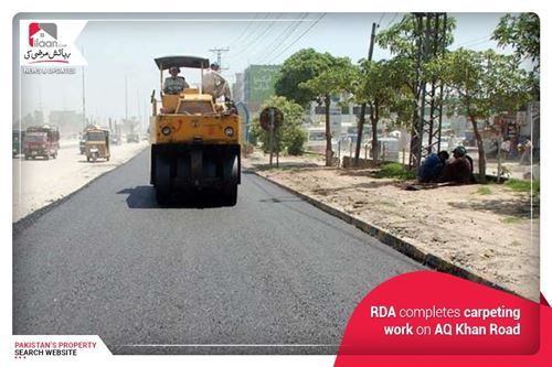 RDA completes carpeting work on AQ Khan Road