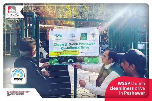 WSSP launch cleanliness drive in Peshawar