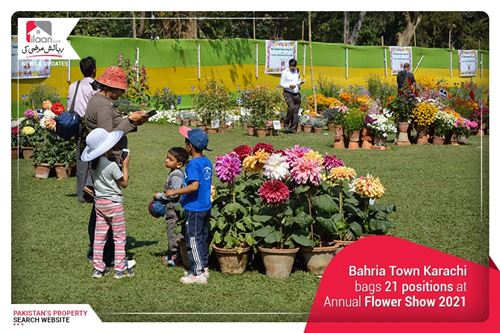 Bahria Town Karachi bags 21 positions at Annual Flower Show 2021