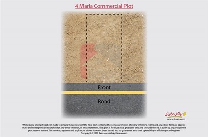 4 marla commercial plot for sale in DHA, Gujranwala