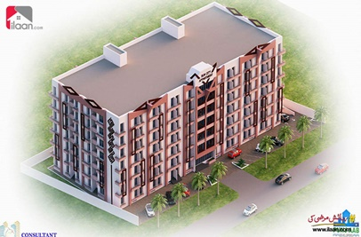 371 ( sq.ft ) apartment for sale ( fifth floor ) in Sun City Housing Scheme, Lahore