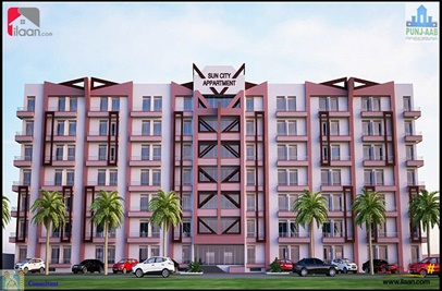 372 ( sq.ft ) apartment for sale ( fifth floor ) in Sun City Housing Scheme, Lahore